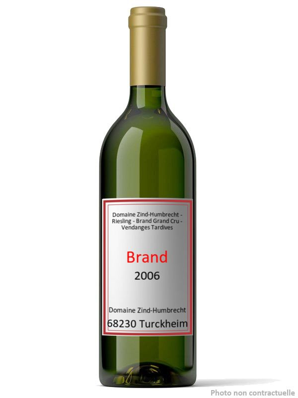 Bouteille Domaine Zind-Humbrecht - Riesling - Brand Grand Cru - Vendanges Tardives 2006