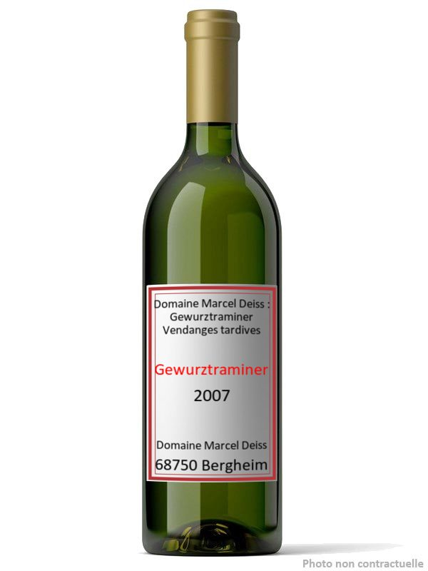 Domaine Marcel Deiss : Gewurztraminer Vendanges tardives 2007