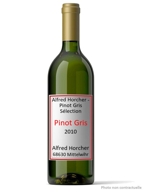 Alfred Horcher - Pinot Gris Sélection 2010