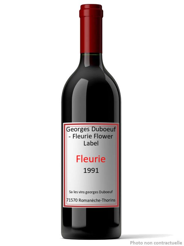 Georges Duboeuf - Fleurie Flower Label 1991