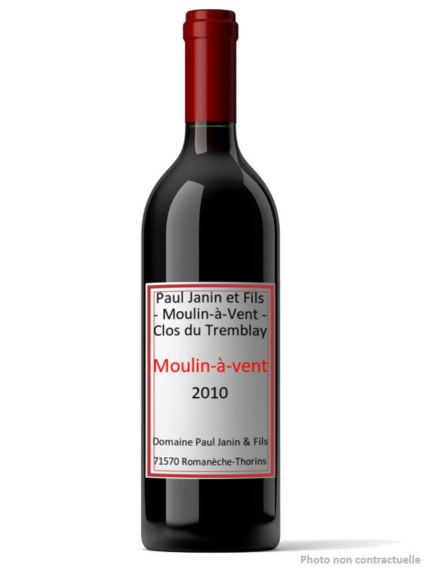 Paul Janin et Fils - Moulin-à-Vent - Clos du Tremblay 2010