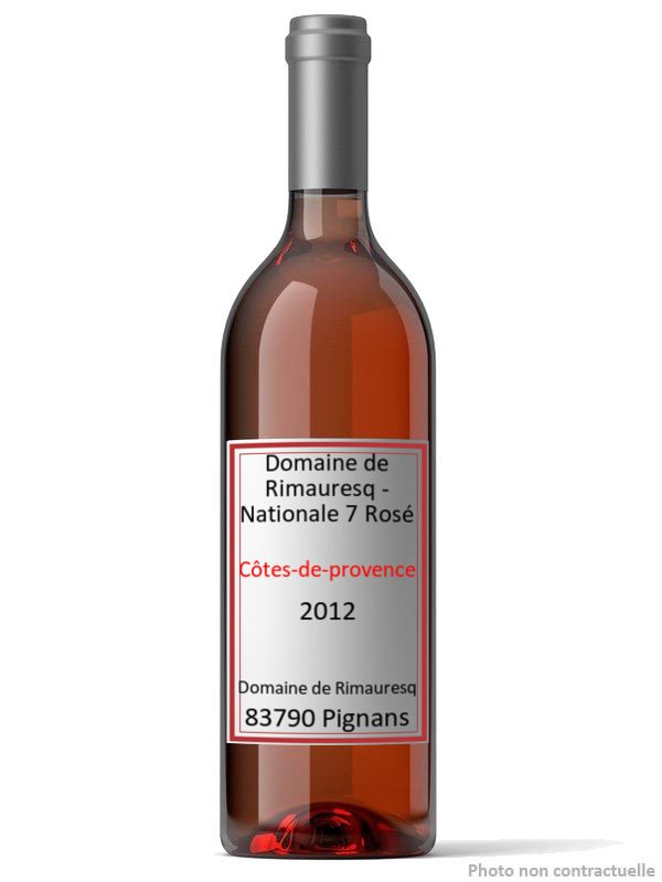 Domaine de Rimauresq - Nationale 7 Rosé 2012